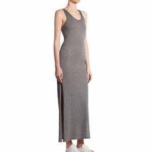 Theory grey maxi dress